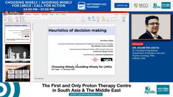 Heuristics of decision making ( Dr Soumitra Datta - Tata Medical Center, Kolkata )