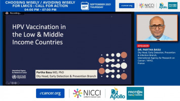 HPV Vaccination in LMIC -barriers to uptake ( Dr Partha Basu - International Agency for Research on Cancer (IARC)/ WHO, France )